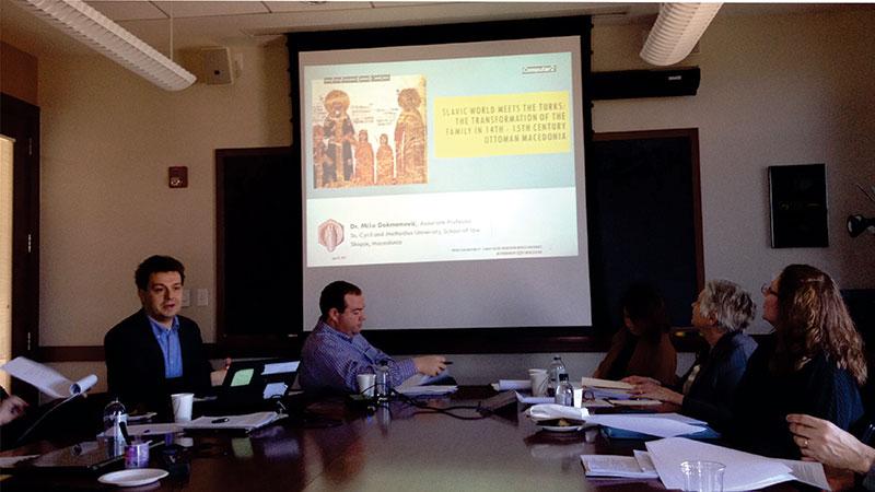 предавање на Универзитетот Принстон во САД